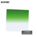 Zomei G Green Graduated Green Color Square Filter (Fit for Cokin Holder)